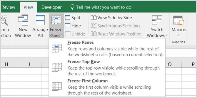Microsoft Excel - Inmovilizar paneles