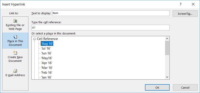 Microsoft Excel - Hoja de cálculo Enlace Celular