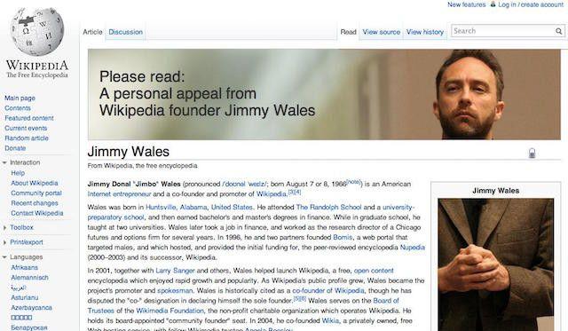 Wikipedia-donación-banner-Jimmy-gales