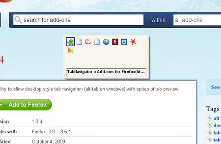 navegador de fichas