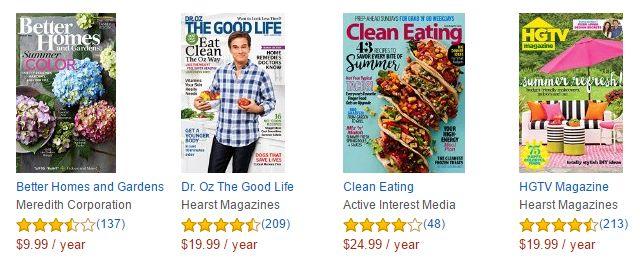 Amazon Kindle-revistas