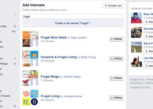 facebook-frugales listas