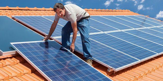 Solo los paneles solares
