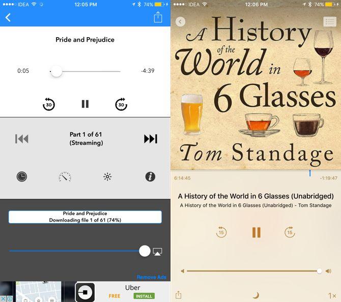 audiolibro aplicaciones de iOS