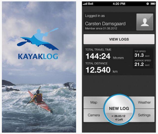 kayaklog aplicación