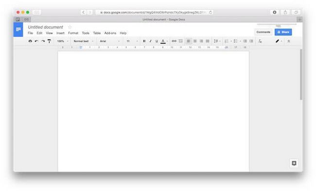 mac alternativas oficina de Google Docs