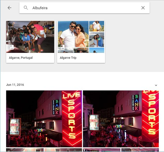 Google Fotos sitios Buscador