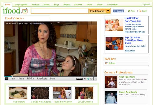 sitios web de cocina