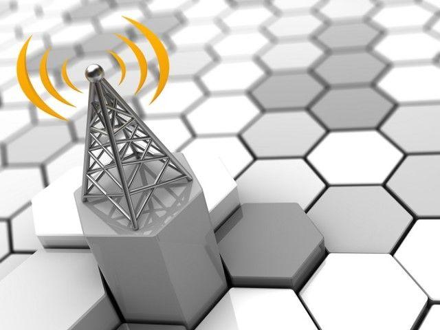 Representación 3D de la red celular