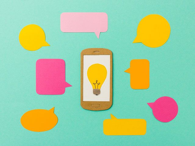 Utilice aplicaciones para impulsar la creatividad.