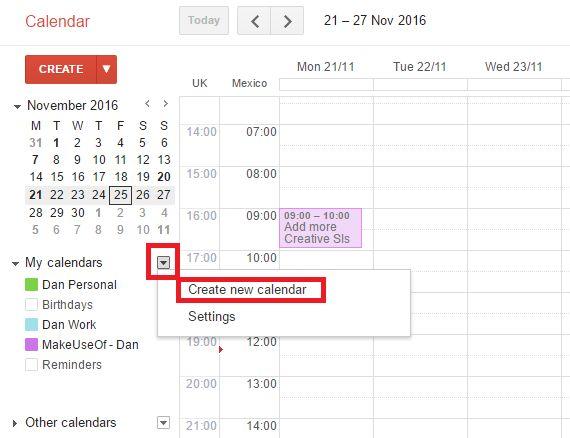 Google Calendar crear