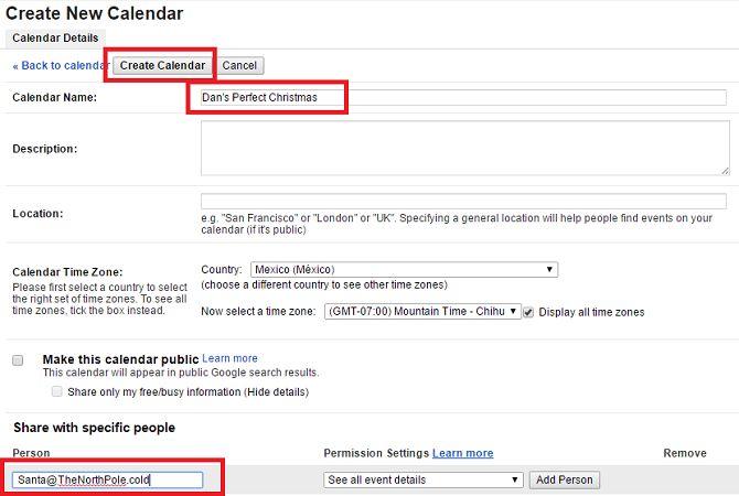 Google cuota de calendario