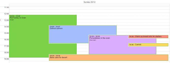 Google navidad calendario de la cena