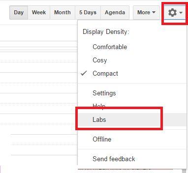 Google Calendar Labs