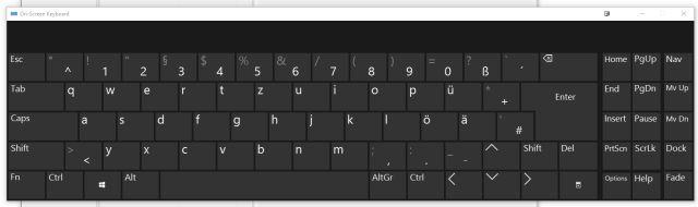 teclado en pantalla