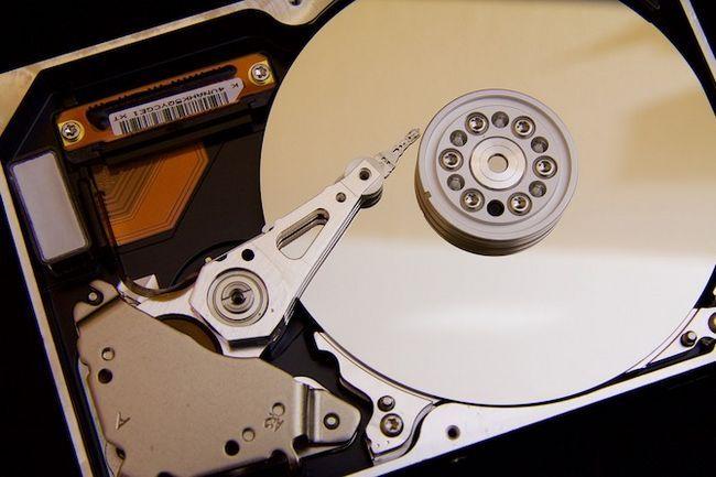 abierto del disco duro