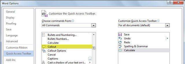Calculadora de Microsoft Word