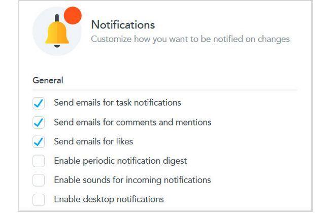Configuración de notificaciones MeisterTask