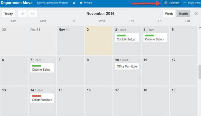 Trello Departamento Mover Calendario