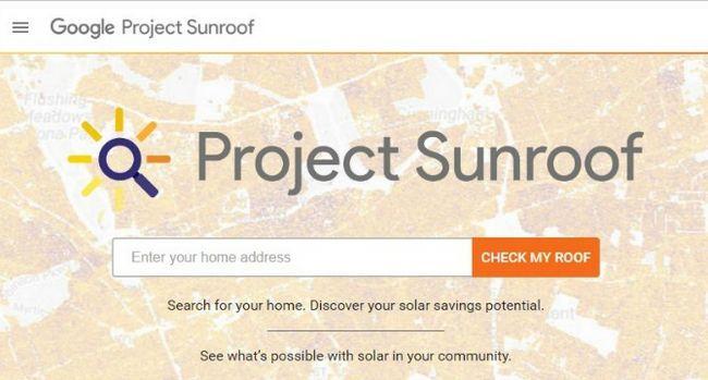 techo solar proyecto de Google