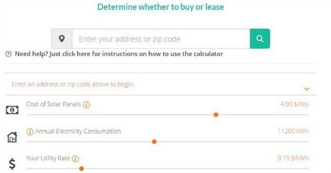 comprar o arrendar calculadora solar