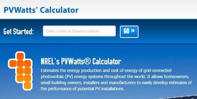 pvwatts calculadora solar