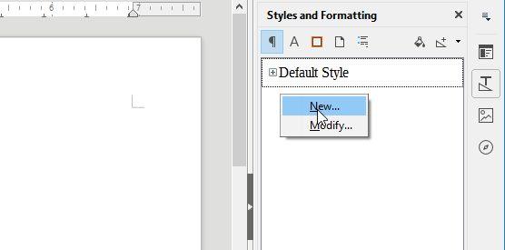 personalizados estilos de LibreOffice de punta