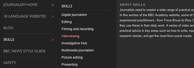 el periodismo en los recursos-BBC-academia