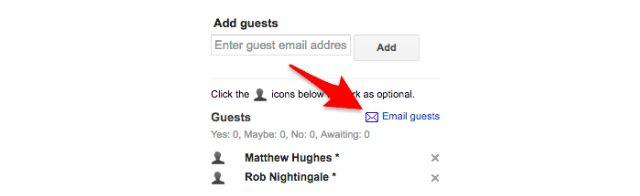 Google Calendar Email reducida