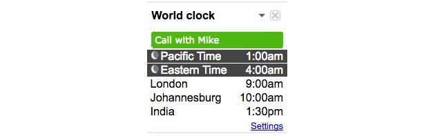 Google Calendario Reloj Mundial