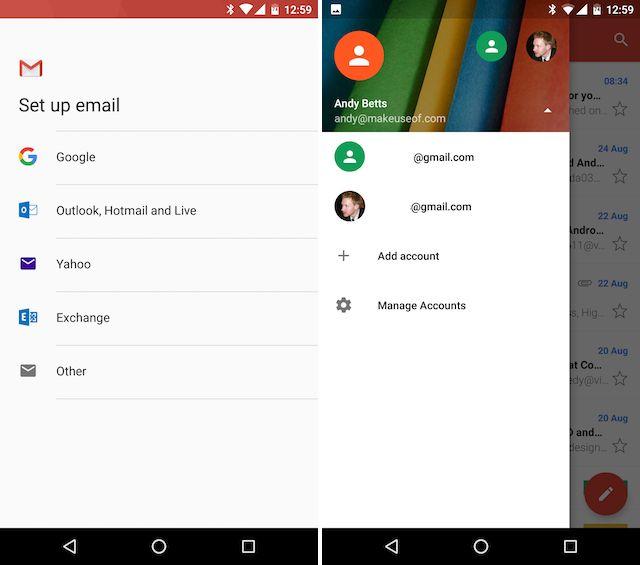 Android Gmail agregar otras cuentas de correo