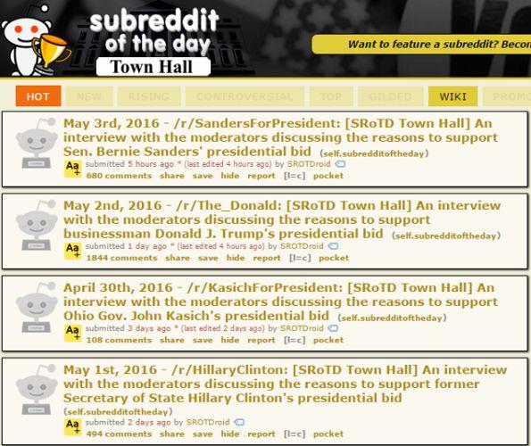 subreddit del día