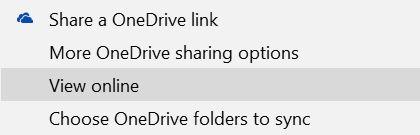 Onedrive Office Online Opciones