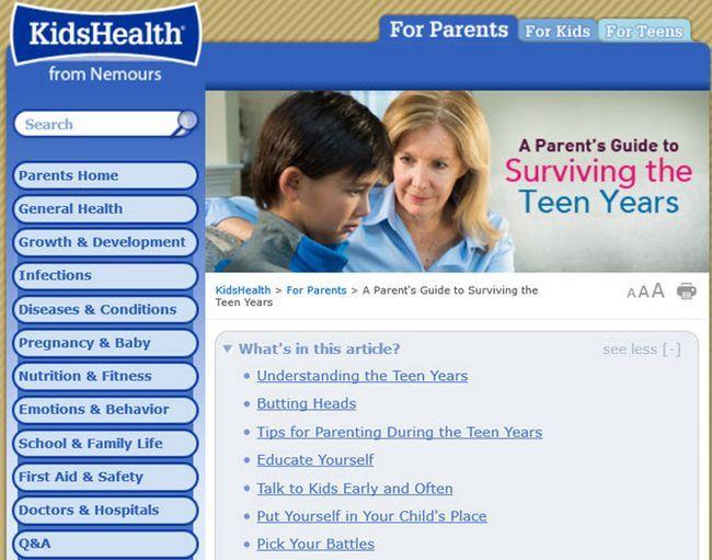 niños de la salud de Nemours
