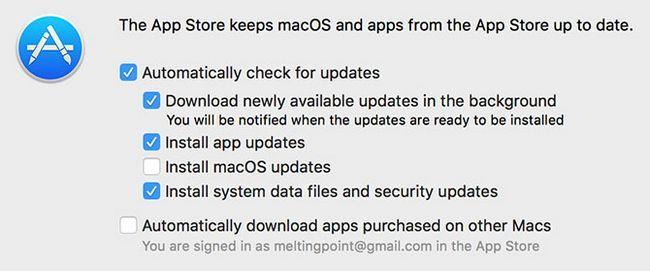 actualización automática mac