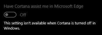Microsoft-borde-settings-Cortana