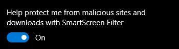 de borde de configuración de Microsoft-SmartScreen
