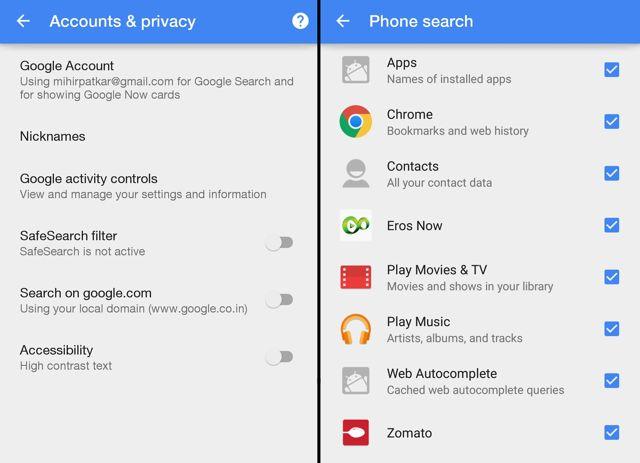 Google-Ajustes-Search-Bar