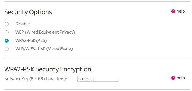 WPA2 enrutador inalámbrico de administración Tipos de seguridad por contraseña WEP WPA