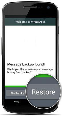 WhatsApp-reinstalación