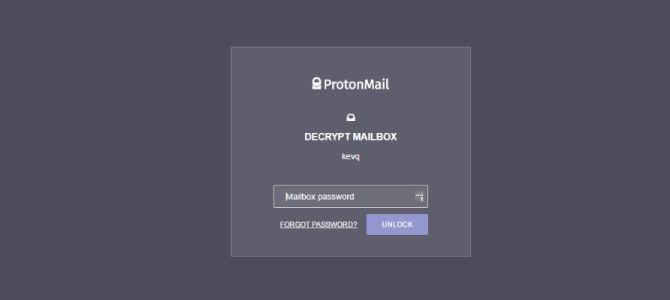 Protonmail Buzón clave de descifrado