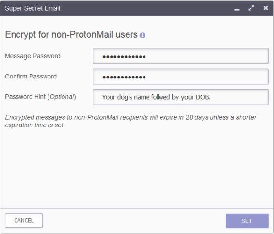 Protonmail Redactar correo electrónico proceso de cifrado