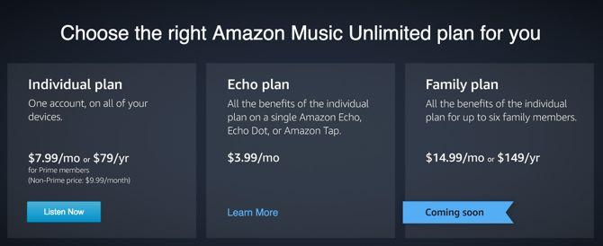 Amazon Música precios ilimitados