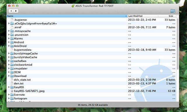 android-de transferencia de archivos