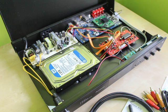 reproductor de karaoke en el interior visión general del hardware
