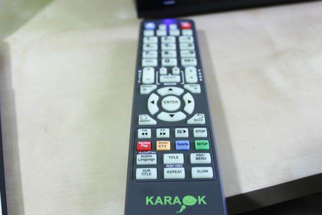 reproductor de karaoke control remoto
