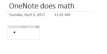 matemáticas automático OneNote