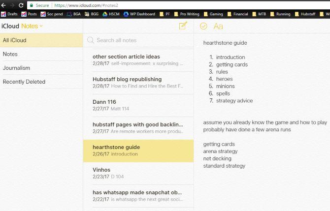 iCloud señala navegador