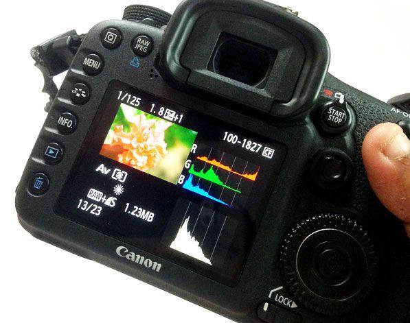 El histograma de la cámara