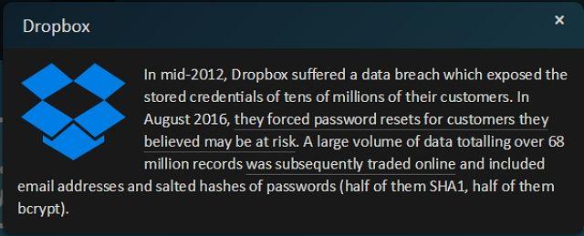 HIBP-Dropbox de pantalla